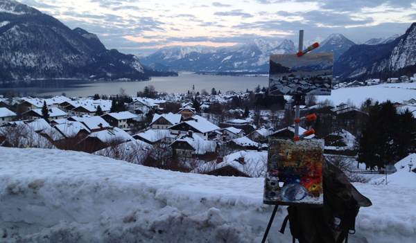 Winter gear for plein air painting marc dalessio - What temperature is too cold to paint outside ...
